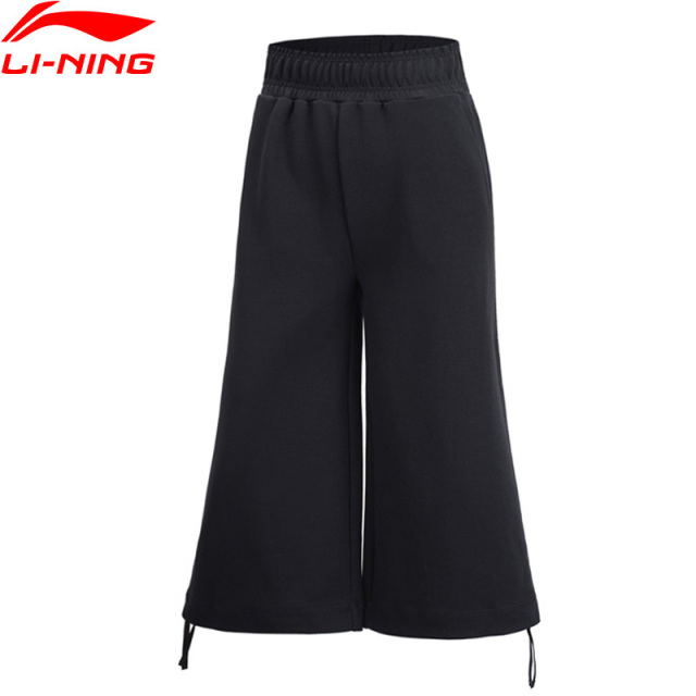 Li-Ning Women The Trend Knit Wide Leg Pants Loose Fit Comfort 70.9% Cotton 29.1% Polyester LiNing Sports Pants AKLP036 WKY225