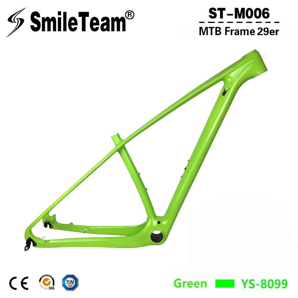 SmileTeam 2017 New Carbon Mountain Bike Frame OEM 29er Carbon MTB Frame 142*12mm or 135*9mm Bicycle Frame Size 15/17/19/21'' carbon mtb frame for mountain bike frame mtb 26er 15 17 19 mtb frame oem acceptable