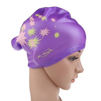 2019 High Stretch Swimming Caps Men Women Swimming Hat Particle Pool Wear Protect Ears Durability Unisex Bathing Cap 2 Colors