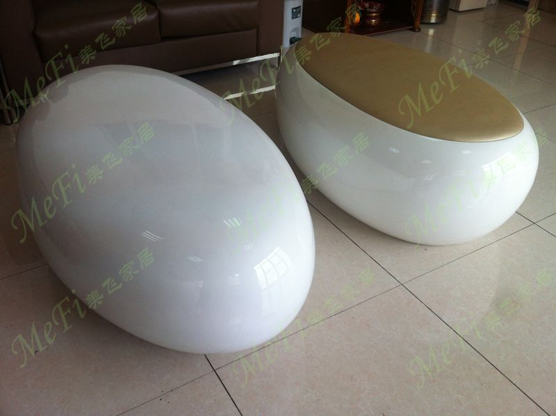 Egg Shaped Table fibreglass coffee table for modern home furniture, egg shape
