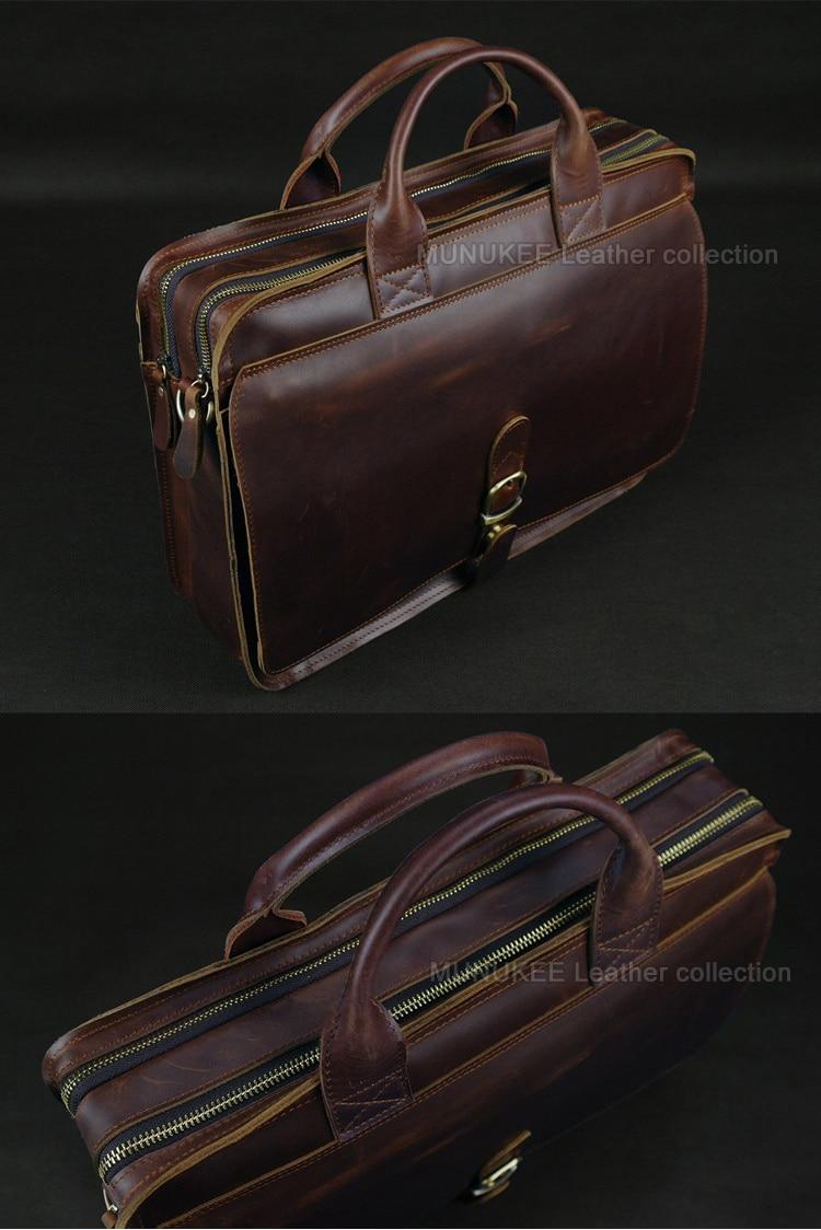 Luksuzna torba za laptop od prave kože za muškarce Laptop torba od - Aktovke - Foto 4