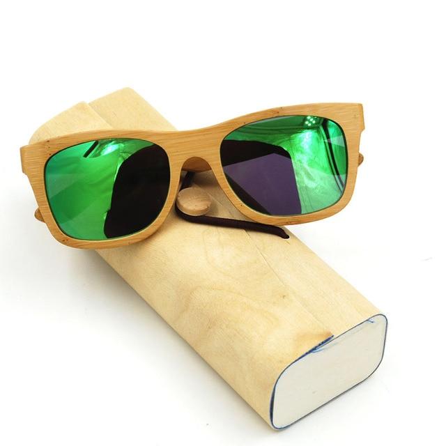 1b0ed654ca 2016 Bamboo Polarized Sunglasses Green Frame Glasses Original Bamboo  Polarized Sunglasses