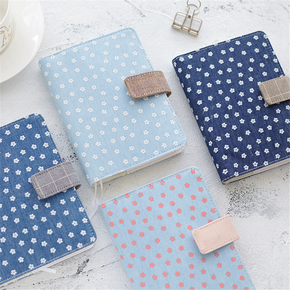 A6 Vintage Notebook Dot Paper Flower Planner Agenda Travels Diary Sketchbook Journal Note Book for School Office Kid Gift rights of the game notebook gift diary note book agenda planner material escolar caderno office stationery supplies gt105