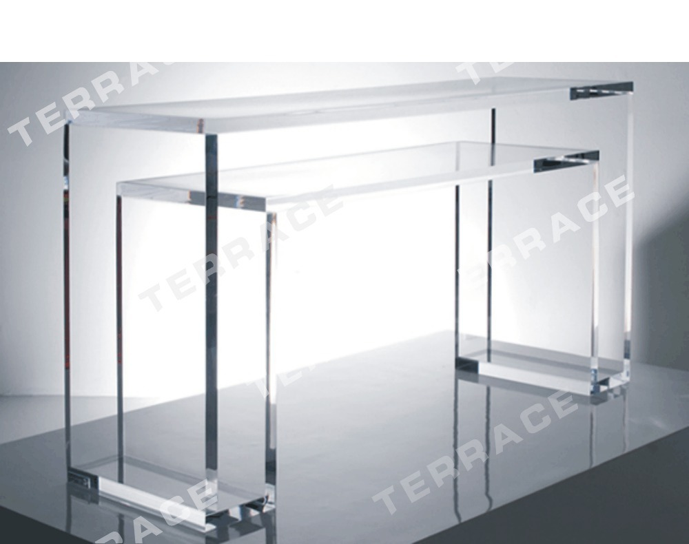 Table Plexiglas Transparent High Transparency Acrylic Coffee Tea Table Lucite Occasional