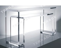 Free Shipping transparent Acrylic console table,Lucite Pedestal
