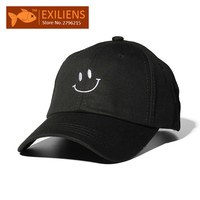 [EXILIENS] 2017 New Fashion Baseball Cap Brand Cotton Smiling Face Snapback Caps Strapback Bboy Hip-hop Hat For Men Women Hot