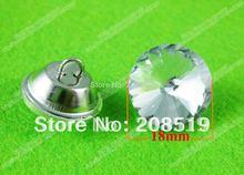 RB001 18mm transparent shining glass buttons 200pcs fashion round shape