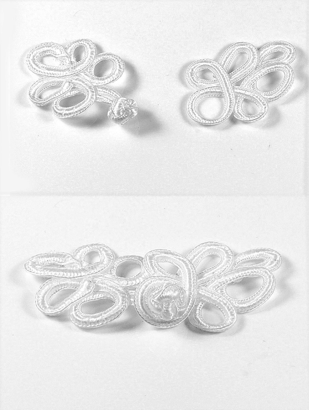 ᑎ‰20 Unidades artesanal Telas blanco trenzado hueco hoja botón ...