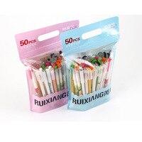 50 Pcs Pack Kawaii Gel Pen Value Pack Cute Designs Black Link 0 5mm Writing Korean