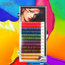 Thinkshow 3D Colorful Individual Volume Korea Silk Eyelash Extension Handmade Natural Long False