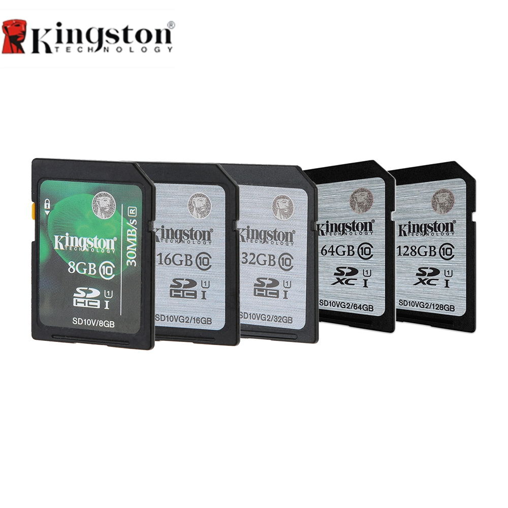 Kingston Digital Sd Memory Card 8gb 16gb 32gb 64gb 128gb Sdhc Sandisk Cl10 Uhs Speed 80mb S Sdxc I Hd Video Class 10 45m For Cellphone In Cards From Computer