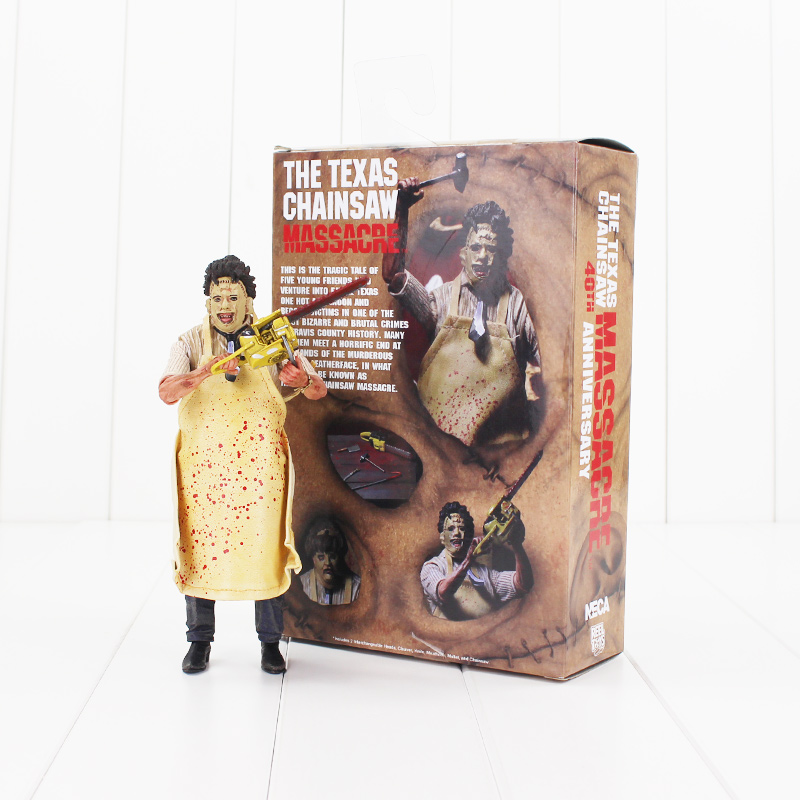 NECA 718cm The Texas Chainsaw MASSACRE PVC Action Figure Collectible Model Toy the darling dahlias and the texas star