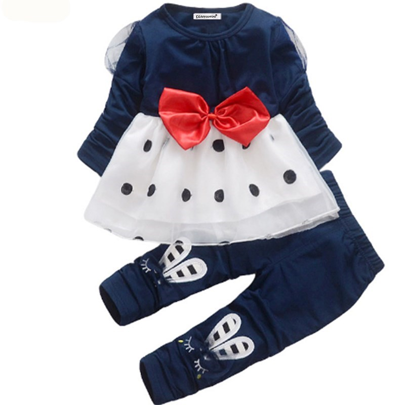 Kids Girls Clothes 2018 Spring/Autumn Baby Boys Girls Long Sleeve Cotton Set Children Clothing Sets Toddler cloth carter s 4 piece bunny snug fit cotton pjs cute rabbit print long sleeve girls clothes set toddler girls clothing set 24062023