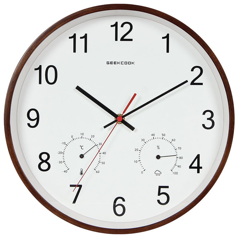 New Clock 3D Wooden ABS 30cm Nordic Wall Clock Modern Design For Home Decoration Large Digital Wall Watch Saati Drtopshipping