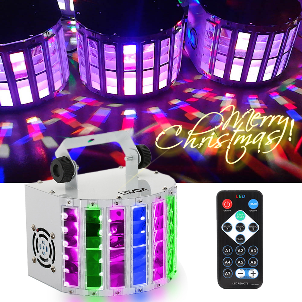 Stage Lighting Lights 100 240V 24W RGBW LED 6 Channel Voice activated Automatic Control LED Projector