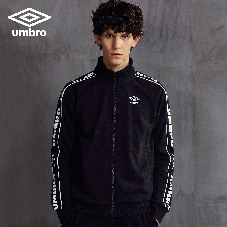 Umbro 2018 New Men Sports Jacket Sweater Coat Zipper Collar Male Classic Sportswear Leisure Breathable Jacket