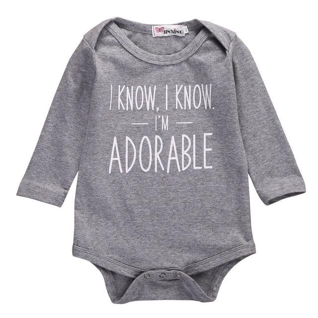 0cc96cab1920 Infant Toddler Newborn Baby Girl Boy Letters Printed Bodysuit ...