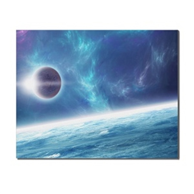 Science Fiction Universe Blue Planet Wall Art Picture Printed for Living Room Bathroom Home Decoration Canvas Painting Poster