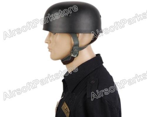 WW2 German Helmet Fallschirmjager M38 Steel Helmet Black