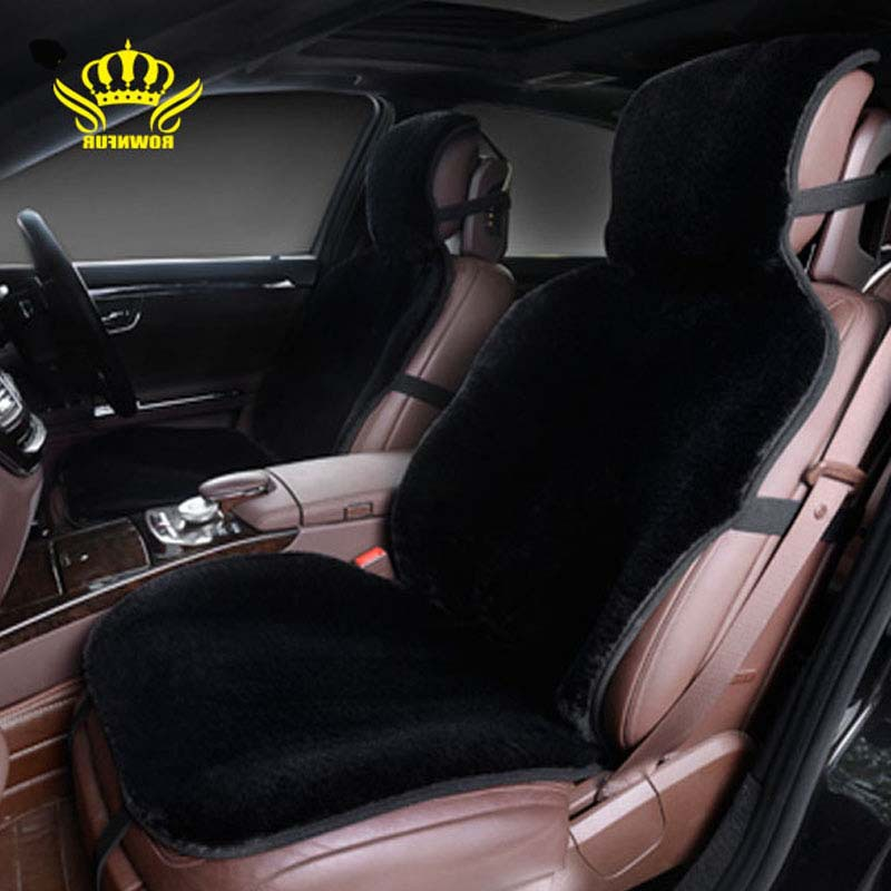 1pcs For One Front car seat covers faux fur cute car interior accessories cushion styling winter new plush car pad seat cover brand new styling luxury leather 5 color 3d car seat covers front