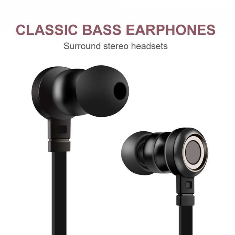Classic Sport Running Earphone Super Bass Headset with Microphone Headphones For iPhone 6 6s 7 8 X Plus Andriod Mobile Phone