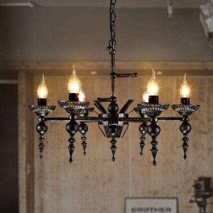 buy iwhd 6 heads lampen iron led pendant lighting fixtures loft style retro