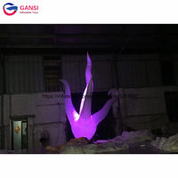 Stage decoration inflatable LED seaweed 2.5 m height inflatable water plant with opening branch for show
