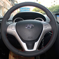 Steering Wheel Leather Covers Case for HYUNDAI ROHENS Coupe 2009 Genuine Leather DIY Hand-stitched Car-styling