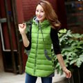 new winter cotton vest female Korean tidal Slim collar down cotton hooded vest female women waistcoat fashion