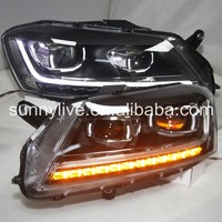 For VW Passat B7 Magoton LED Head Lamp 2012 13 year European Version