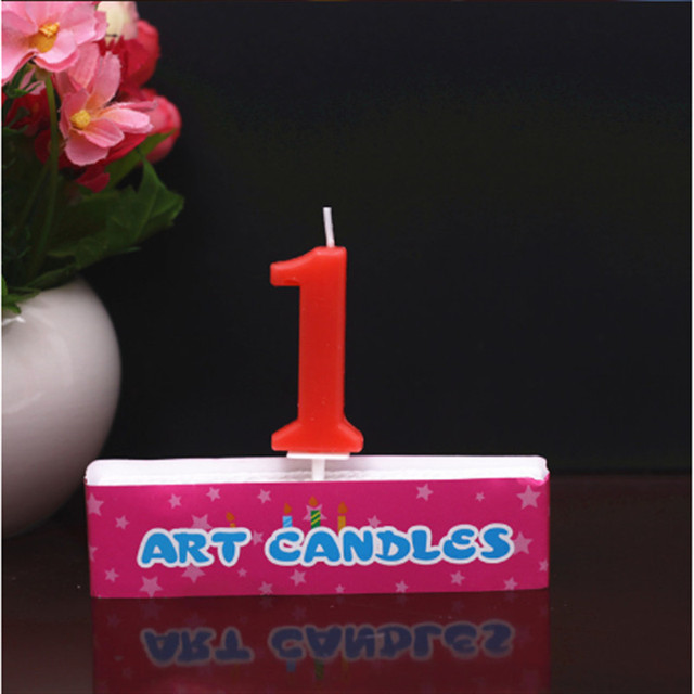 Fashion Number Candle Cake Candles Ages Party Kids Birthday Decorations Colorful 1 Supplies