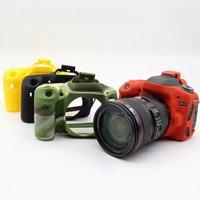 Güzel Yumuşak Silikon Kauçuk Kamera Koruyucu Gövde Kapağı Durumda Cilt Için Canon 6D Kamera Çantası