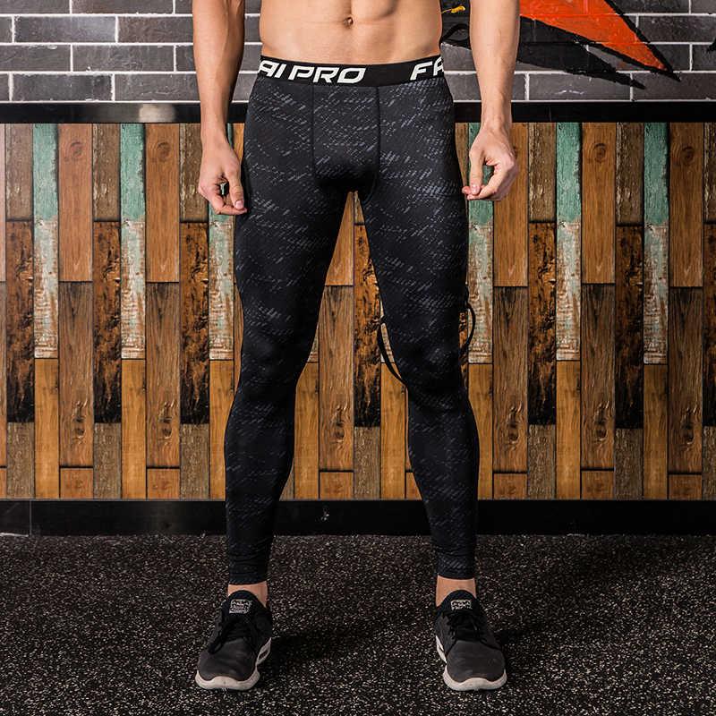ba5c9976590 ... FANNAI Men Legging Running Sport leggings Gym Fitness Compression mens  pant Training Yoga Tight Pants Jogging ...