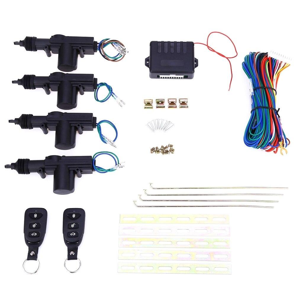 imágenes para L240 Universal de Coche DC 12 V 2 Cable de Alimentación de Batalla de Cerradura de Puerta Del Actuador de Bloqueo Automático Sistema de Motor Con El Hardware