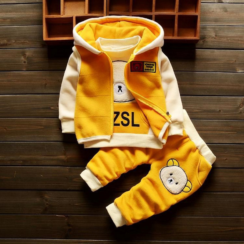Newborn Baby Autumn Winter 3pcs Clothing Set Toddler Girl Tracksuits Costume Casual Infant Sport Suits For Girls