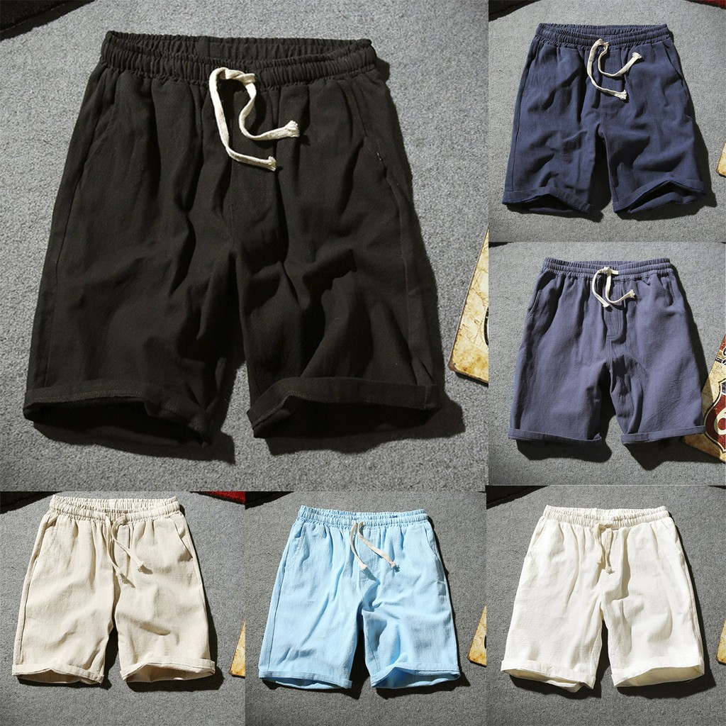 Men   Shorts   Summer Fashion New Arrived Baita Flax Cotton   Short   Flax Sweat Comfortable Chino Large Straight   Shorts   M-5XL
