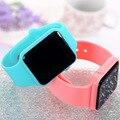 Top Marca de Lujo Simple Rectángulo LED Display Adolescentes Amantes de Pulsera Digital Relojes Mujer Vestido Relogio Del Deporte