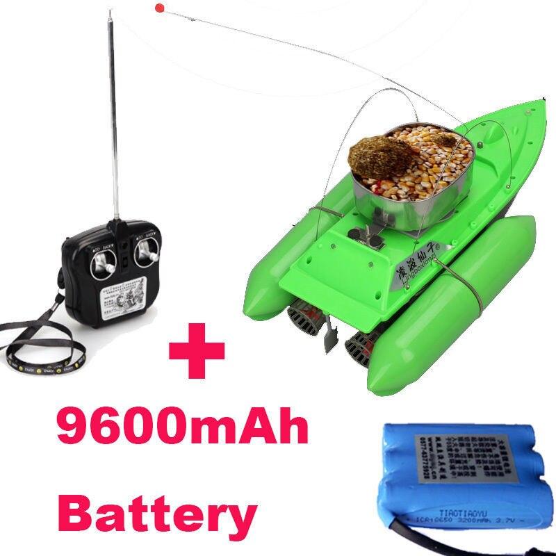 Livraison Gratuite! nouveau T10 Bateau Fish Finder Appât leurre Bateau De Pêche RC Anti Herbe Vent Télécommande + 9600 mAh Batterie