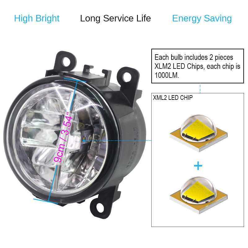 Buildreamen2 2 Pieces Car LED Fog Light Daytime Running Light DRL 12V For 2003-2008 Suzuki Ignis II Closed Off-Road Vehicle