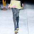 Vintage Hornbill & Flower Oil Painting Art Fashion Stocking Tights Ladies Spring Autumn Pantyhose