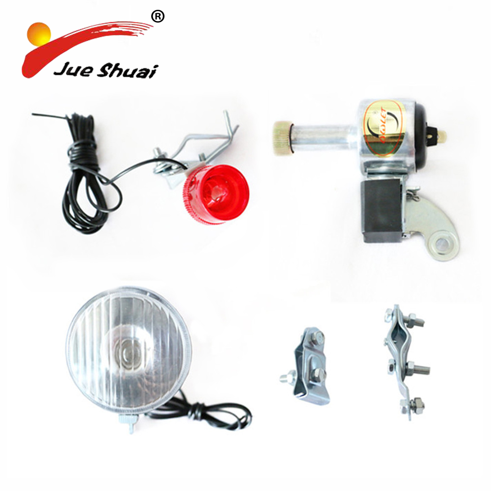 Rear and Front dynamo-powered lamp dynamo light Bike Light Multifunction Dynamo Lighting Set Safe Riding Bicycle Accessory 180 16 9 fast fold front and rear projection screen back