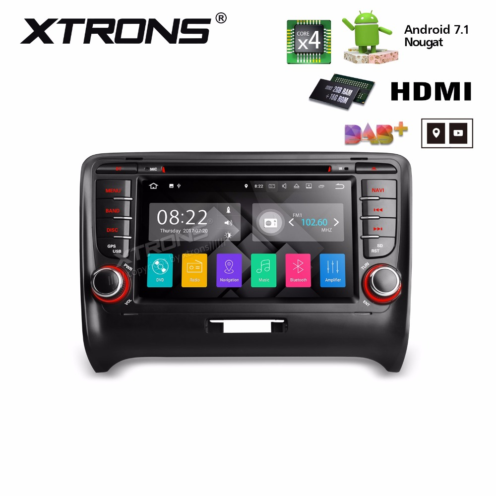 Aliexpress com buy xtrons 2 din 7 hd android 7 1 radio gps hdmi car dvd player for audi tt mk2 8j 2006 2007 2008 2009 2010 2011 2012 from reliable car