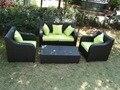 2017 venta caliente comercio garantía de royal banco de jardín de mimbre al aire libre muebles del patio