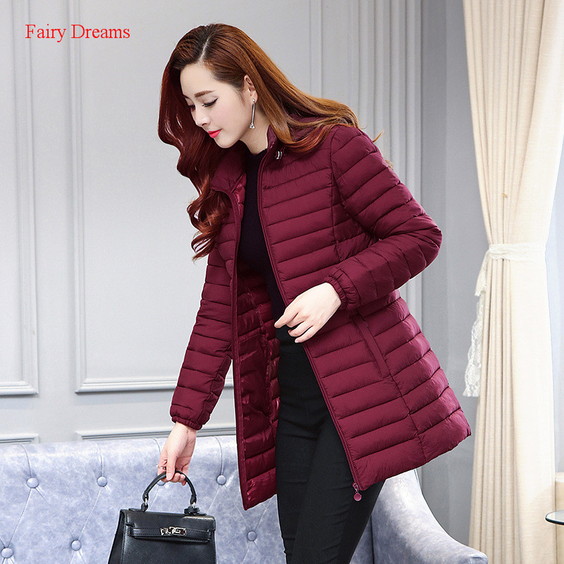 Fairy Dreams Women's Jacket Winter Coat Made Of Goose Feather Thin Down Parka Black Red Green Full Sleeve Plus Size Clothes 2017 a head full of dreams виниловая пластинка