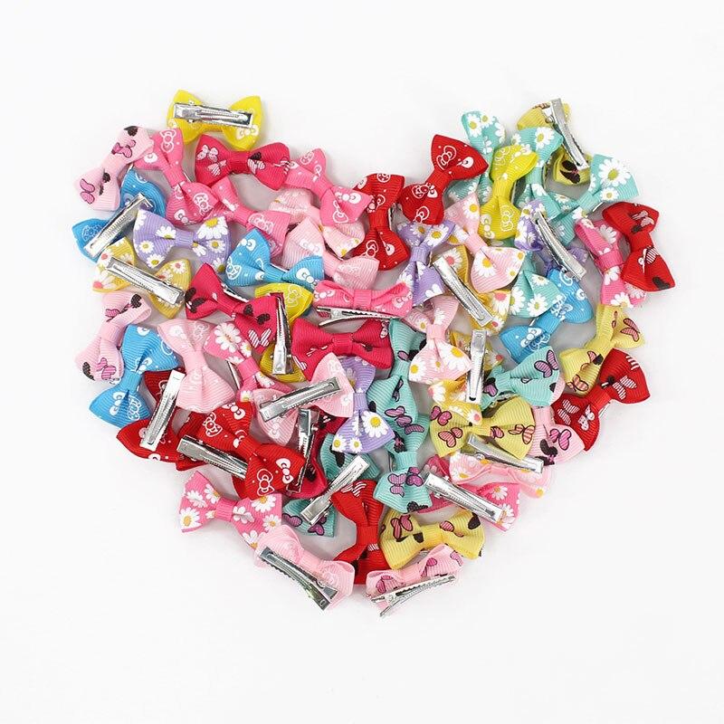 20 шт. заколки для девочек детские шпильки для волос аксессуары для волос цветные заколки с цветком милая детская лента заколки 4 см
