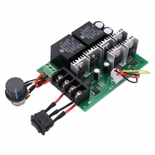 1pc Electric PWM Motor Speed Controller Regulator DC 10V-50V 12/24/36/48V 60A CW CCW With Reversible Tape Switch Mayitr dc 10 50v speed controller 100a 3000w programable reversible pwm control motor speed controller