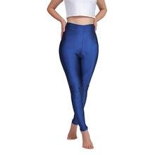ICOSTUMES Women Skinny Blue Mid Waist Legging Black Ballet Dance Pants 2018 New