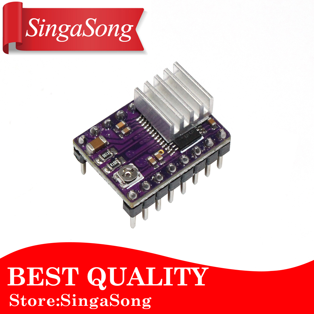 New Stepstick Drv8825 For RAMPS Stepper Motor Driver HeatSink Part 3D Printers Parts Heat Sink 4 Layer PCB Purple Board цена