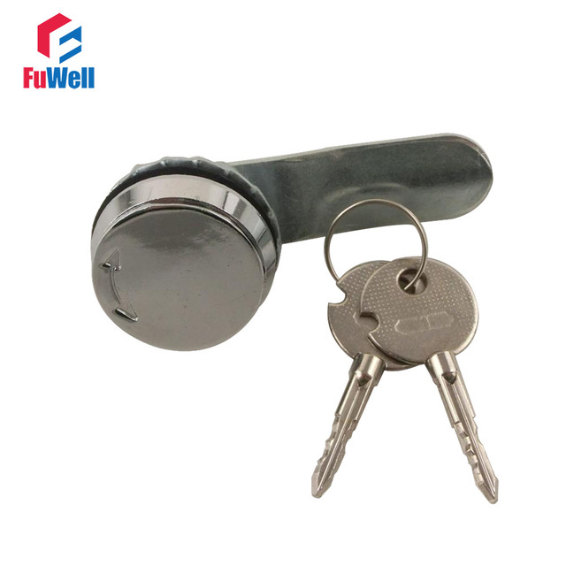A400-1 Metal Mini Cam Lock with Copper Cylinder Furniture Cam Lock Fit for 1-8mm Thickness Door Drawer Cabinet Lock