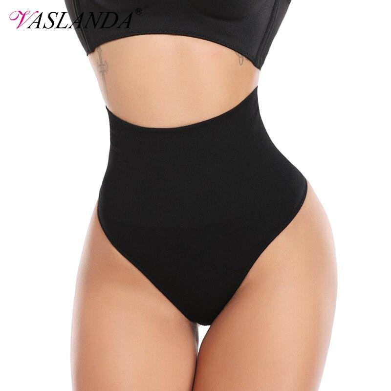 VASLANDA High Waist Butt Lifter Women Sexy Thong Shaper Tummy Control Panties Shaping Underwear Waist Trainer Briefs Shapewear